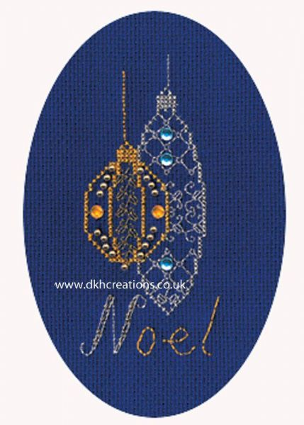 Christmas Baubles Card Cross Stitch Kit